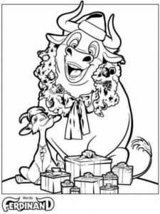 веселый бык и коза