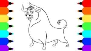 раскраска бык фердинанд