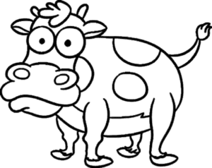 год быка раскраска