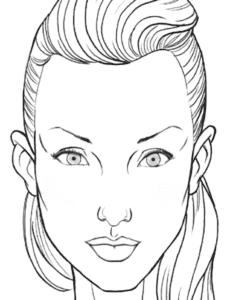 лицо раскраска для макияжа