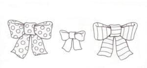 раскраски с бантиками для детей