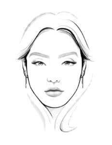 Шаблон для макияжа распечатать