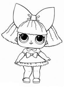 раскраски для детей куклы лол