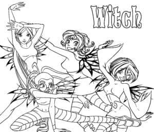 распечатать witch