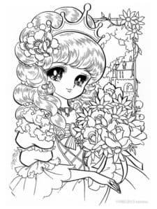 принцесса с букетом антистресс