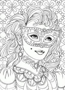 лицо девушки в маске антистресс