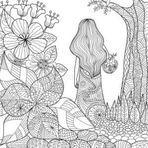 цветы и дерево антистресс