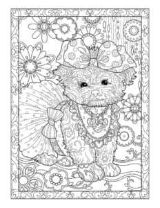 щенок с бантиком на голове антистресс