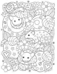 мышки и листья антистресс