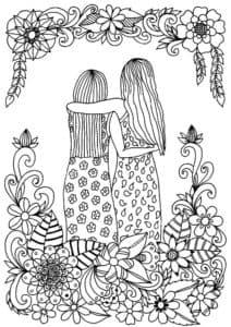 две девушки обнимаются антистресс