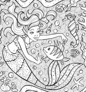 русалка и рыбки антистресс