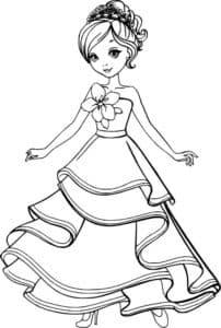 Раскраска с куклой для девочек