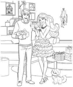 барби и кен с подарками
