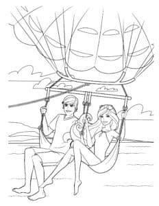 кен с барби на парашюте