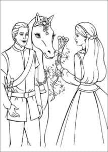 барби кен и лошадка