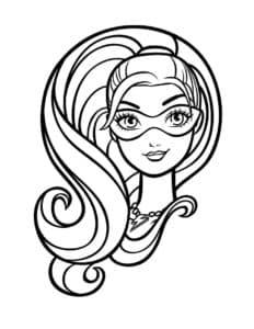лицо барби супер принцессы