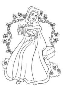 Белль принцесса в платье