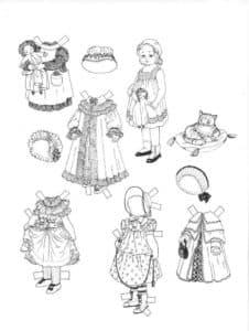 Девочка и одежда