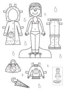 Кукла и одежда для неё