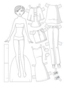 Шаблон куклы и гардероба