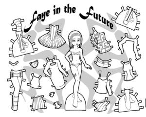 Шаблон одежды для куклы скачать