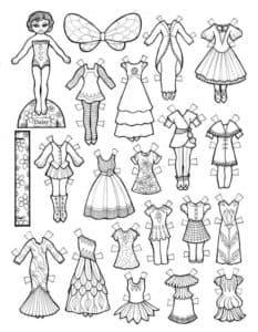 Много платьев для куклы вырезать