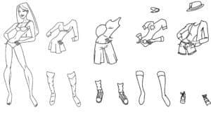 Обувь и одежда для куклы