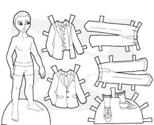 Одежда для мальчика раскраска