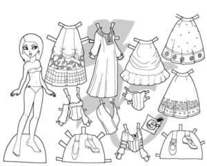 Бумажная одежда для ребенка
