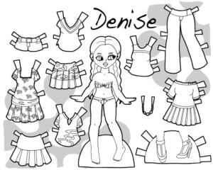 бумажная одежда для Денисе