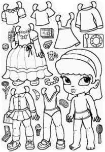Бумажная одежда и предметы