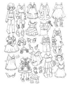 Большой гардероб для куклы
