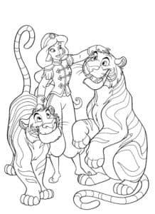 Жасмин с тиграми