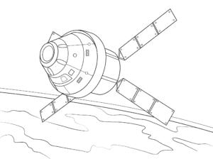 спутник в космосе