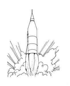 ракета взлетает