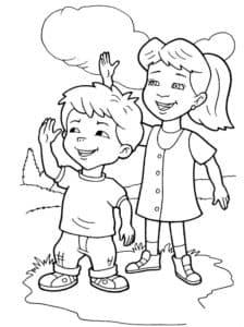 дети и облака