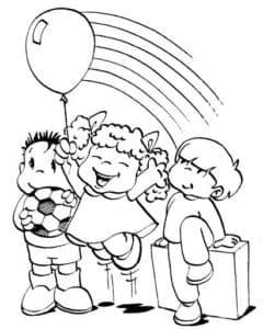 детки с шариком