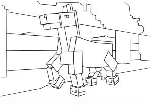 Лошадь майнкрафт раскраска