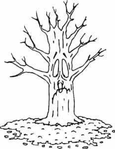 Грустное дерево без листьев