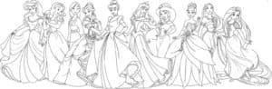 красивые раскраски принцессы диснея