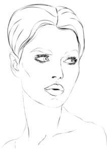 лица девушек для макияжа
