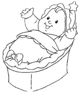Ребеночек в кроватке