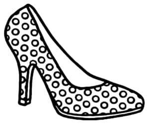 Раскраска женские туфли