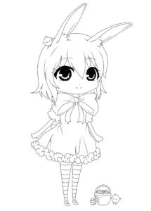 девушка аниме с ушками