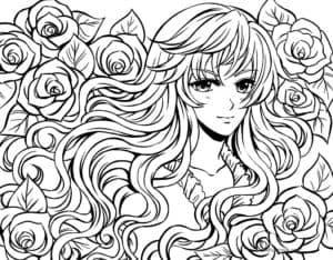 девушка аниме антистресс