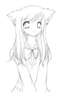 девушка аниме раскраска детская