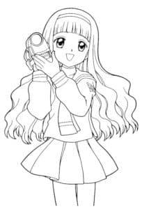 девушка аниме в платье