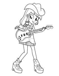 Девушка из Эквестрии с гитарой