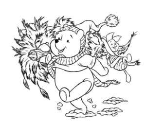 Винни Пух и пятачок на новый год