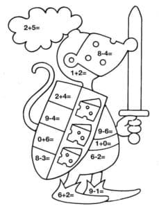 рыцарь раскраска с примерами для 1 класса
